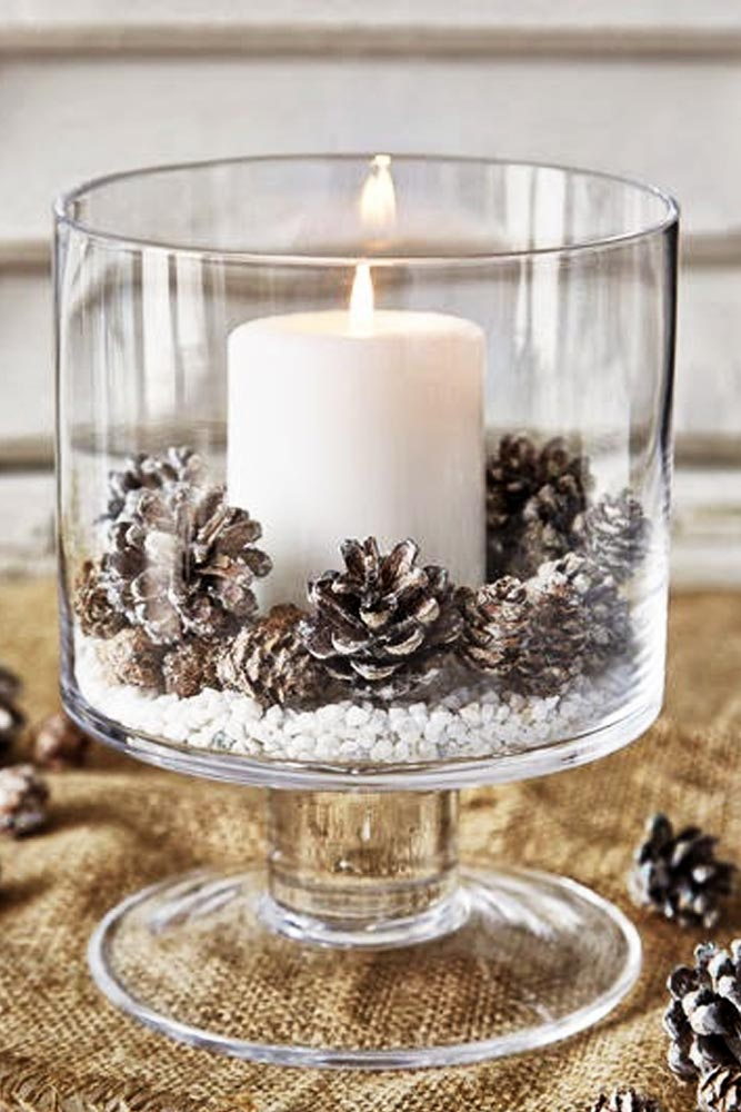 Holiday Candle Centerpiece  via Glaminati