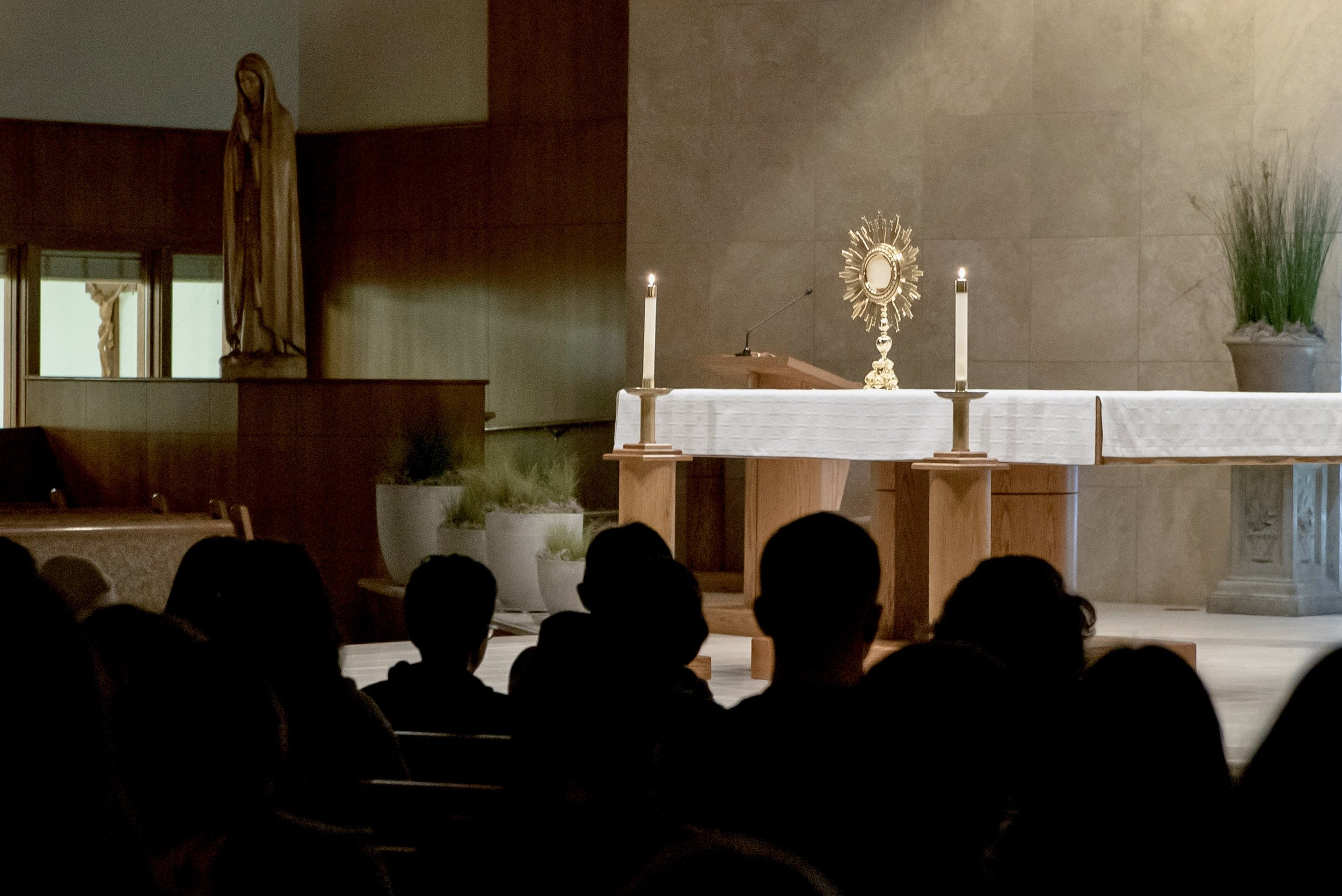 Adoration - All ages are welcome to come and spend some time with the physical presence of Jesus.
