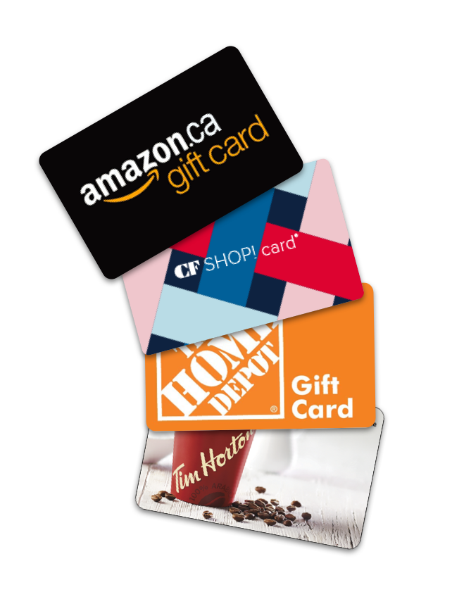 - Earn 1 pt. for $1 spent on every order➤ 1,000 pts. = $10 backUse your points for Discounts on your next LawPrint orderor Gift Cards from any of the following:- Amazon.ca- CF Shopping Malls- Home Depot- Tim Horton's- Shopper's Drug Mart- and many more!