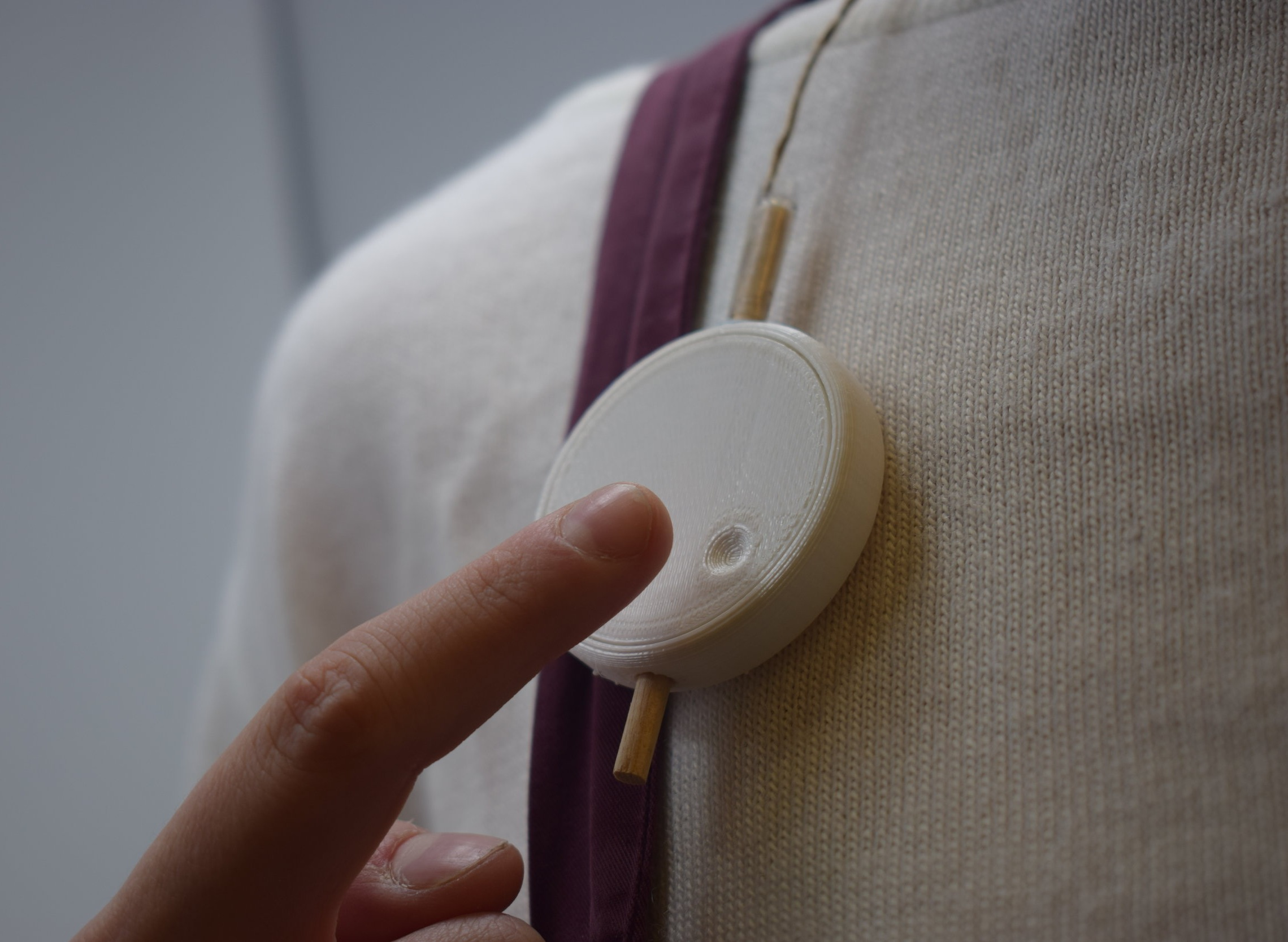 Feedback - The device didn't feel secure enough around the users neck, especally since the device will be used on the go.The attachment of the earpiece to the device felt restricting to the users movement.A more secure design, with a completely removable bluetooth earpiece will be developed going forwards.