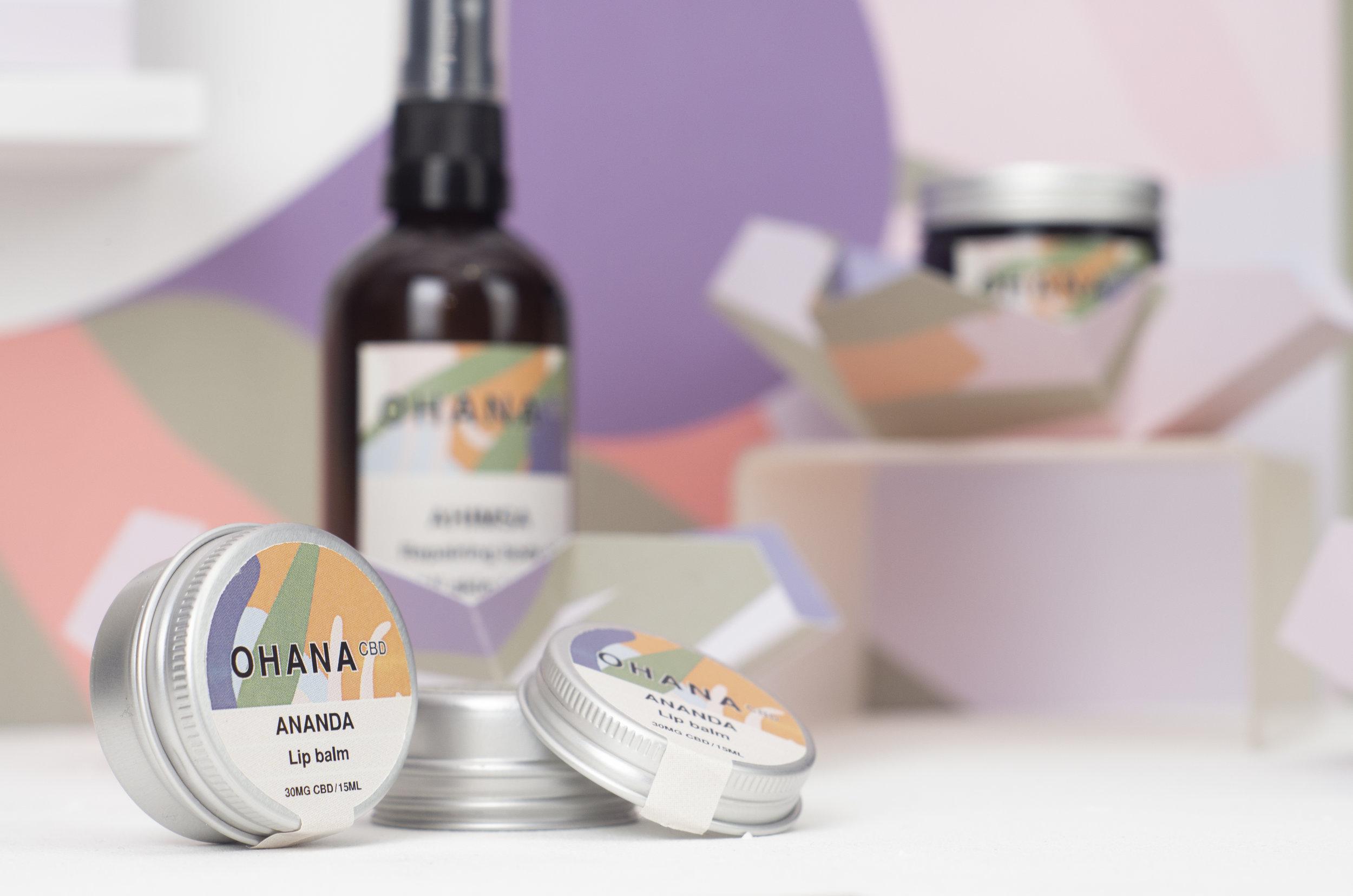 Ohana CBD - Visual Identity for CBD-based skincare brand