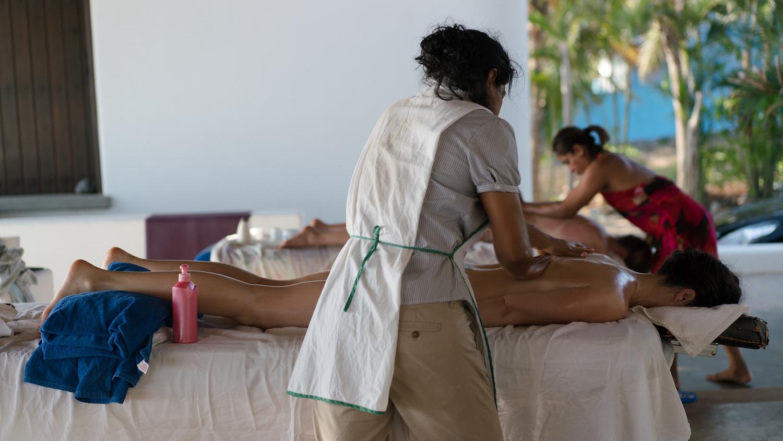 On-site masseuse