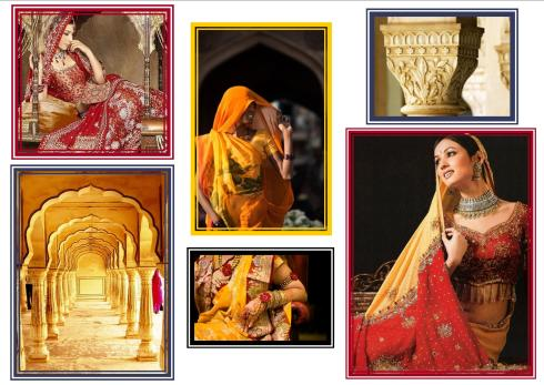 Images of Indian women with their traditional indian dress