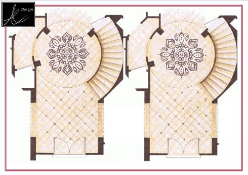 Two different designs options for medallion