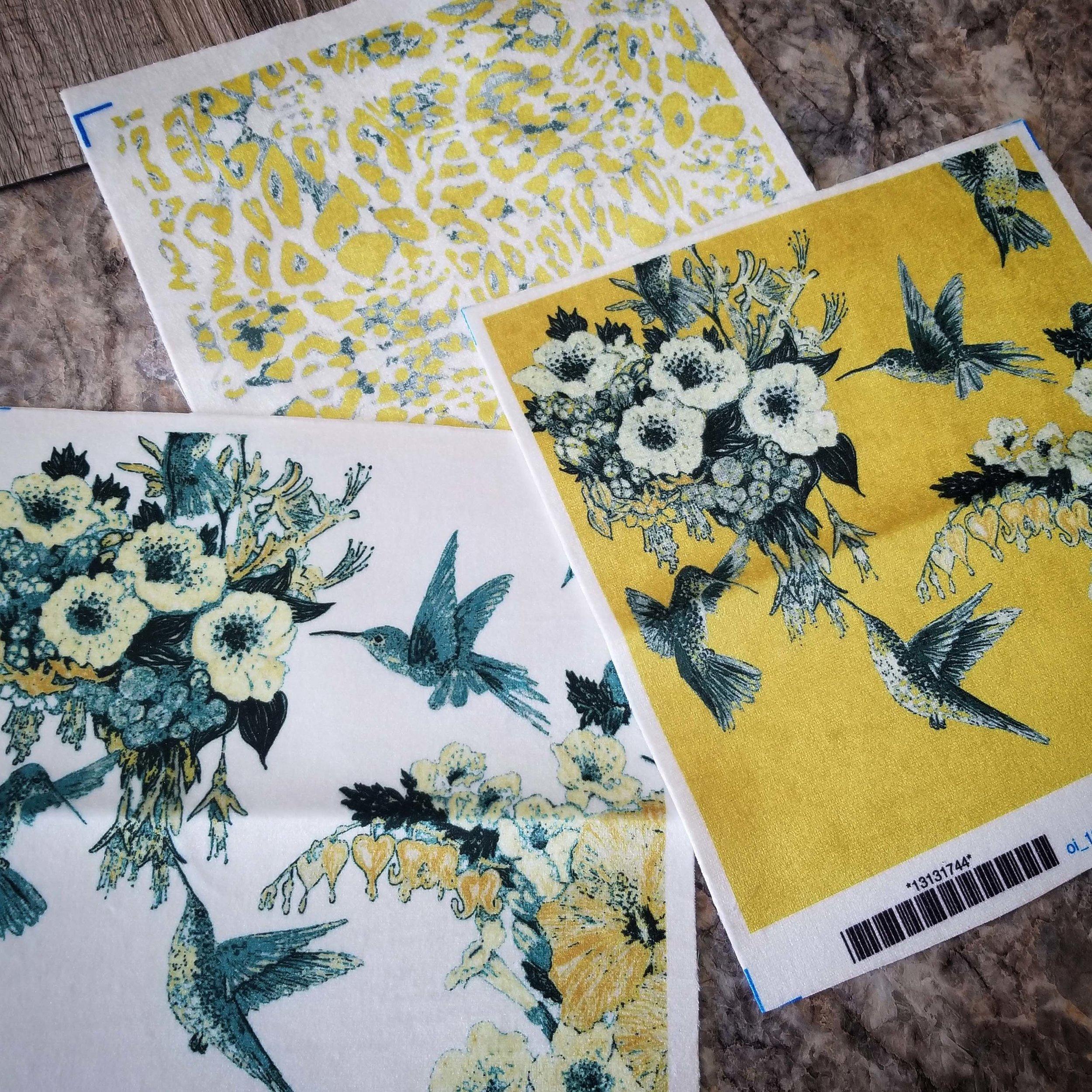Wallpaper fabric ideas on the ceramic floor