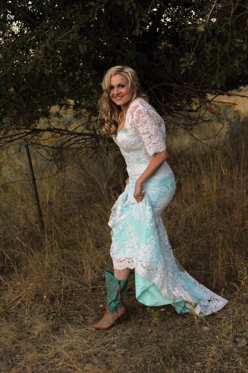 Azure Elizabeth outdoor photoshoot showing her boots