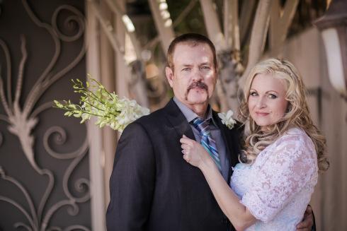 Azure Elizabeth with her groom on the chapel photoshoot