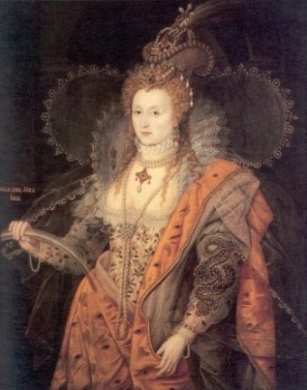 The photo of Queen Elizabeth the first