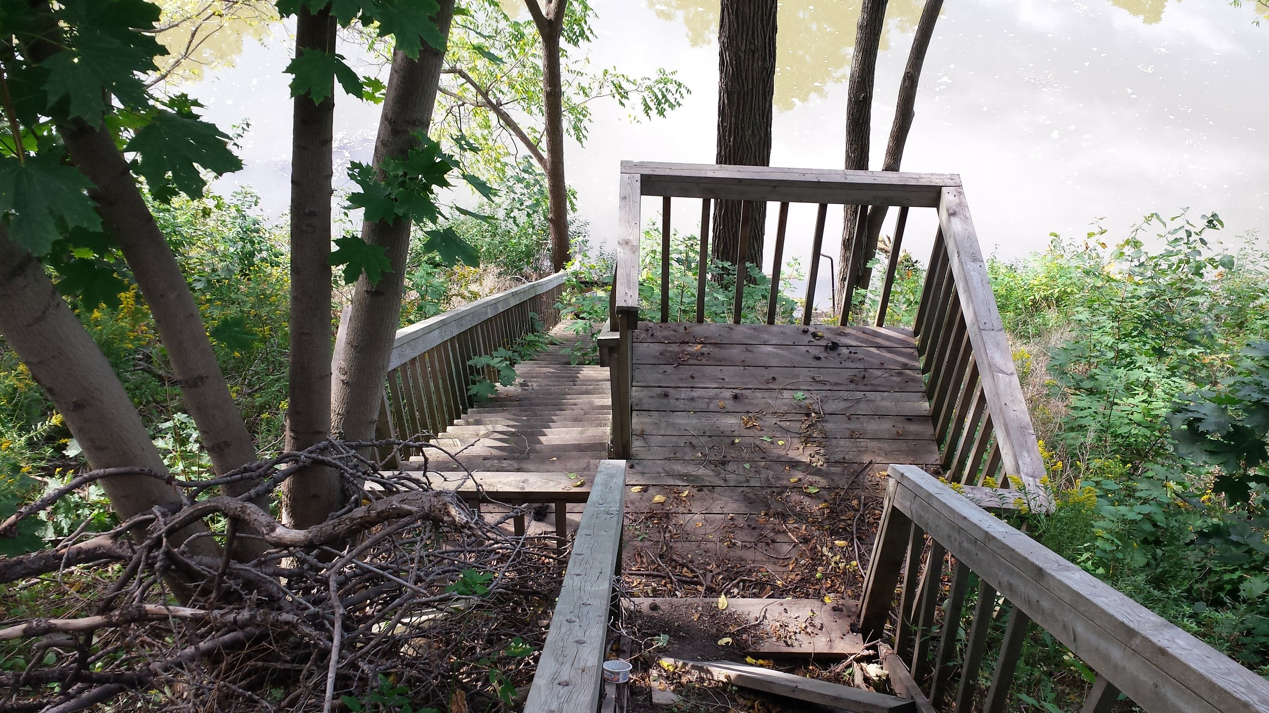 Before - River Staircase