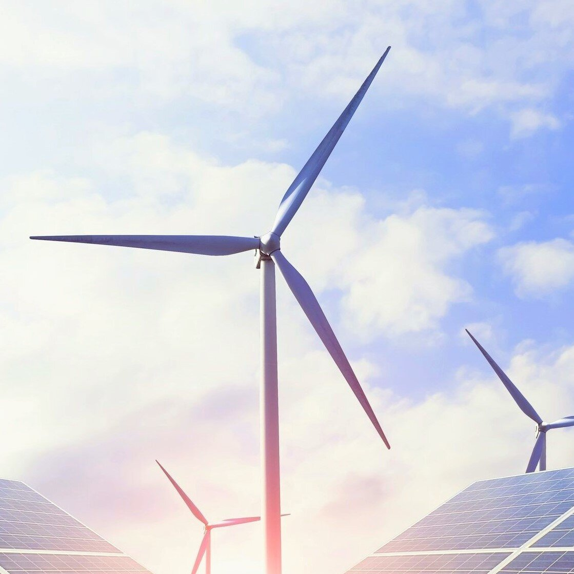 Energy-saving technology such as windmills and solar panels
