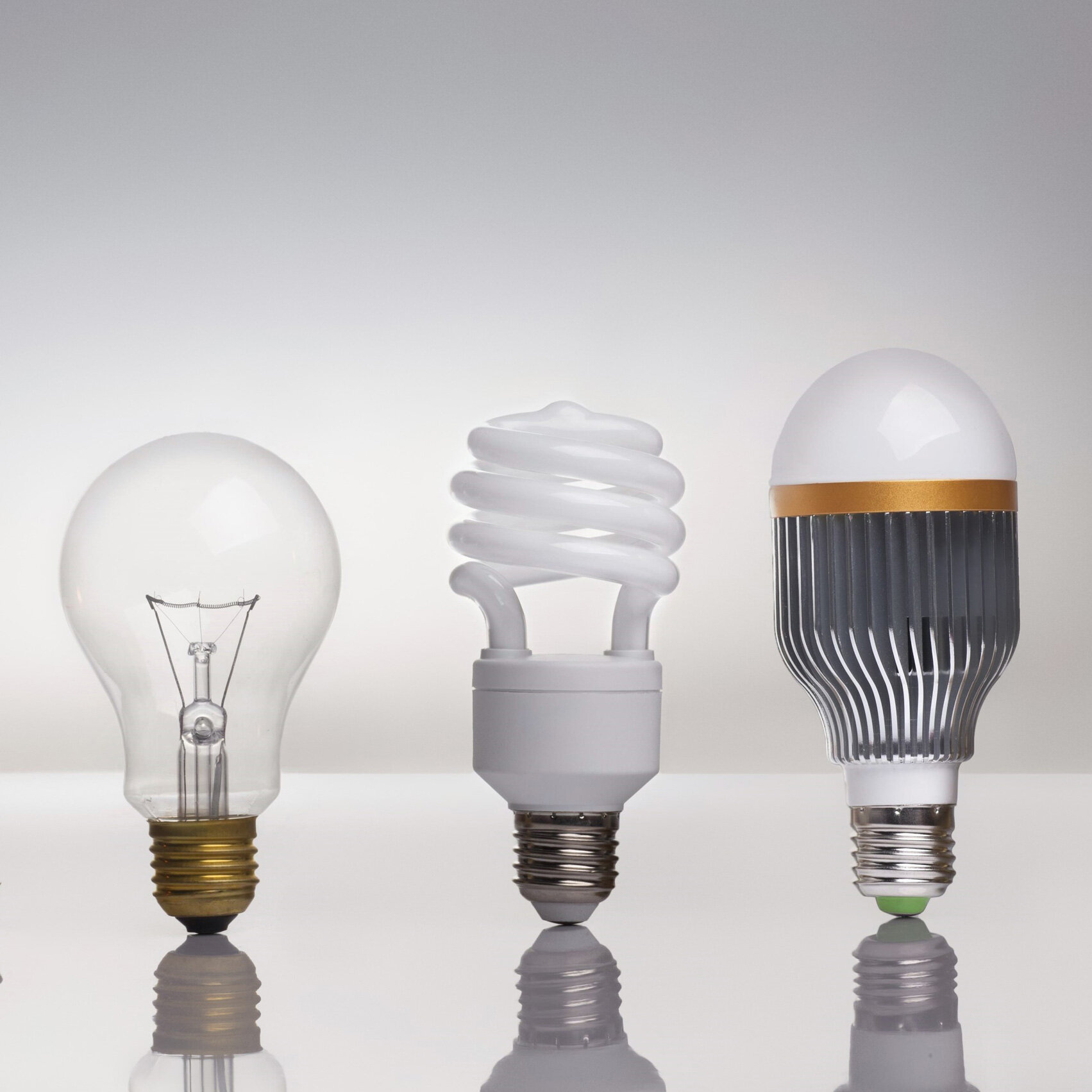 The evolution of the lightbulb over time