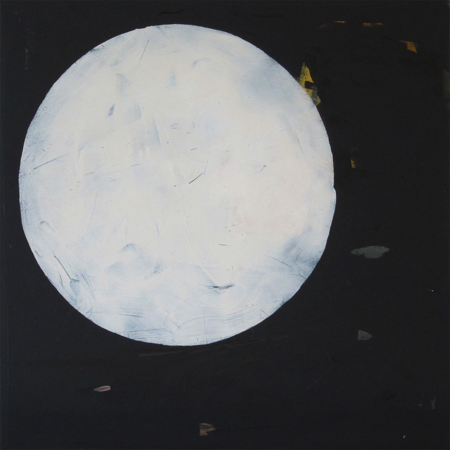 Moon  |  8 x 8 in  | Oil on maple wood panel