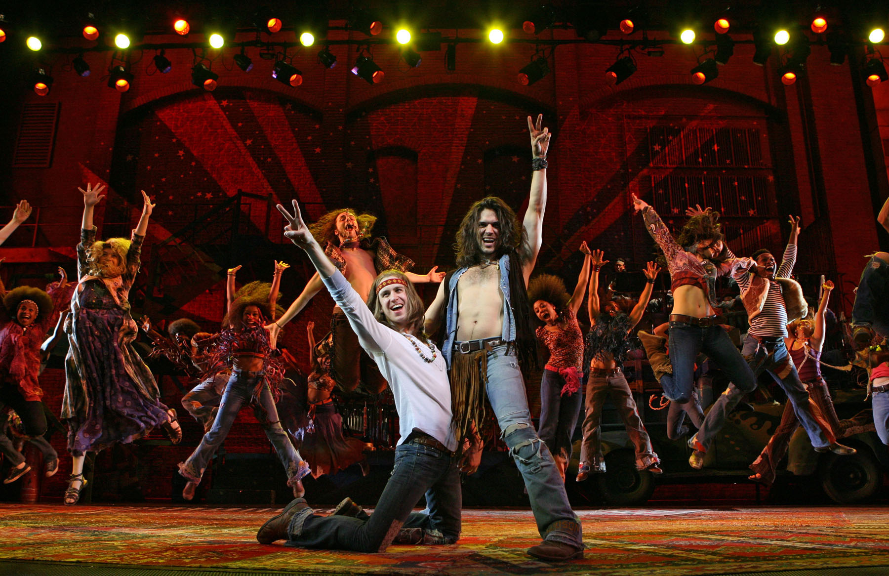 - HAIR · Gavin Creel, Will Swenson and Cast · Photo by Joan Marcus