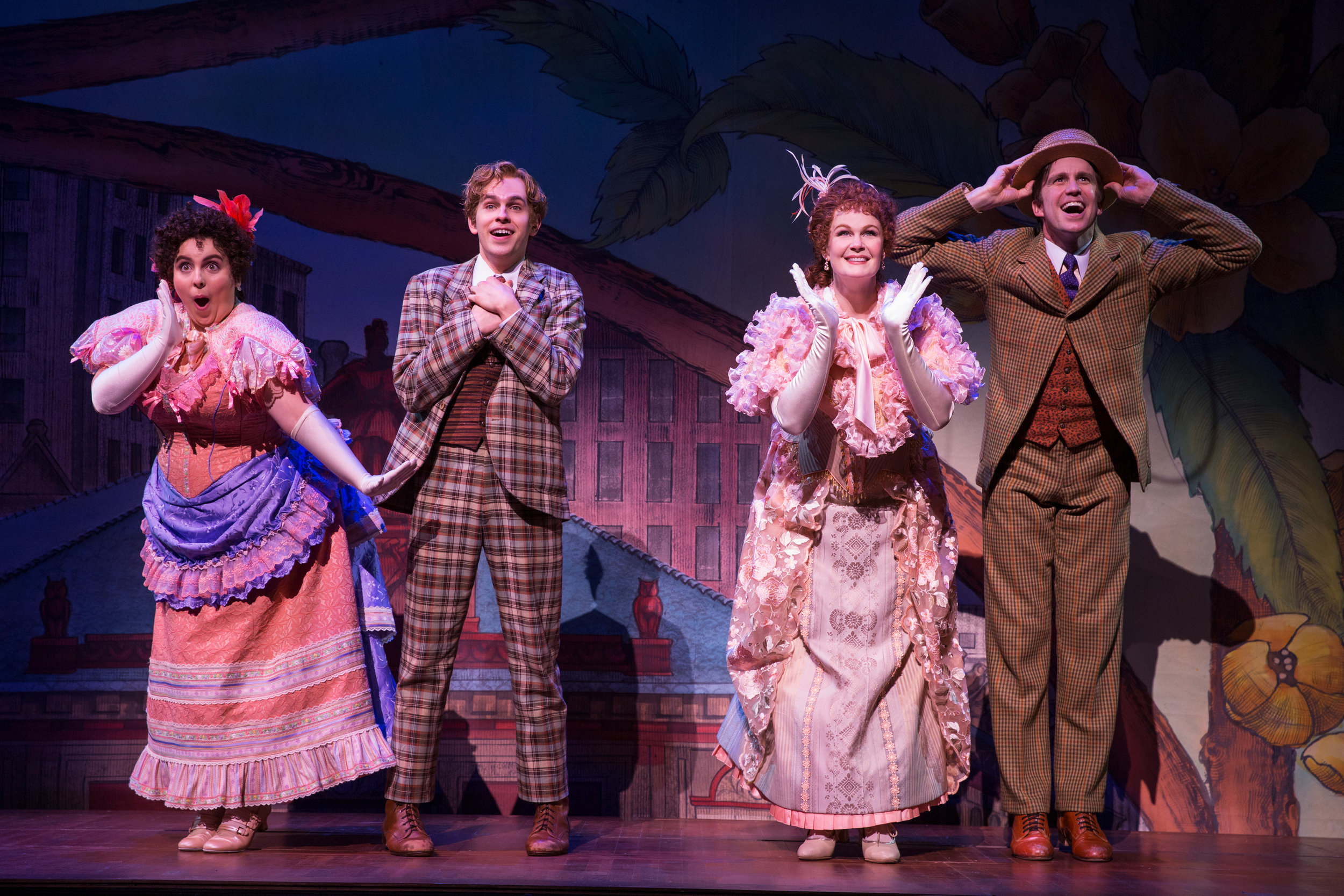 - HELLO, DOLLY! · Beanie Feldstein, Taylor Trensch, Kate Baldwin and Gavin Creel · Photo by Julieta Cervantes