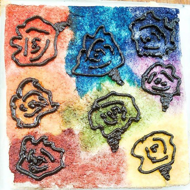 Multicolour abstract flowers.⠀ ⠀ ⠀ #customcookies #eat #tasty #desserts #baking #baker ⠀  #cookies #cookies🍪 #cookiesofinstagram❤️ #cookieart #marble #photogram 🍴 #food #foodofinstagram #foodie #toptags #instafood  #toptags #cookietrends #cookiedecorating #sweettreats #rainbow #flowers
