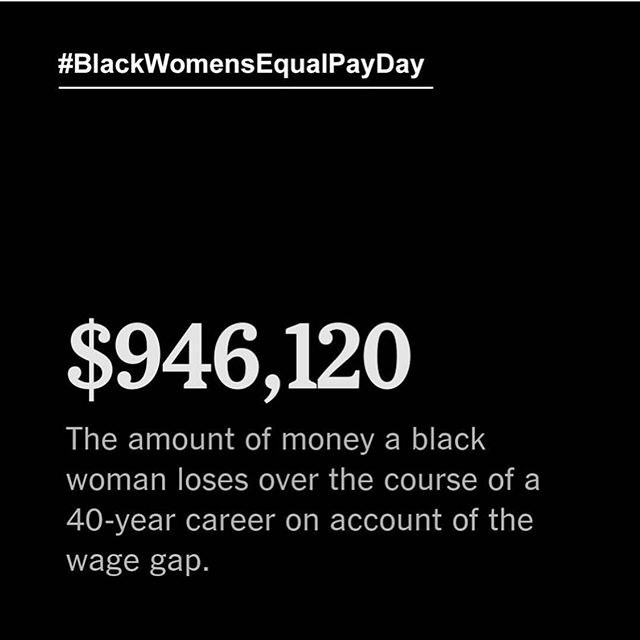 For Black women, today—August 22nd—is the day that they earn equal compensation as their white, non-Hispanic male counterparts earned in 2018. In other words, Black women have to work ALL of 2018 until today to earn the same compensation as white, non-Hispanic men earned in 2018 alone. Additionally, research indicates that women's appearance choices, like hairstyles, hair color, and clothing, have a greater likelihood of playing a negative role in compensation decisions than is the case for men; Black women's appearance choices often play a more significant role, generating greater wage loss. Naturally, the movement to #FreeTheHair advances Black women's—and all women's—equitable compensation. #timesup