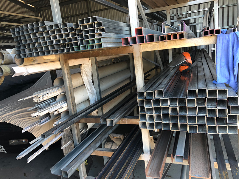 50 x 50 RHS fence posts and 7.5m fence rails