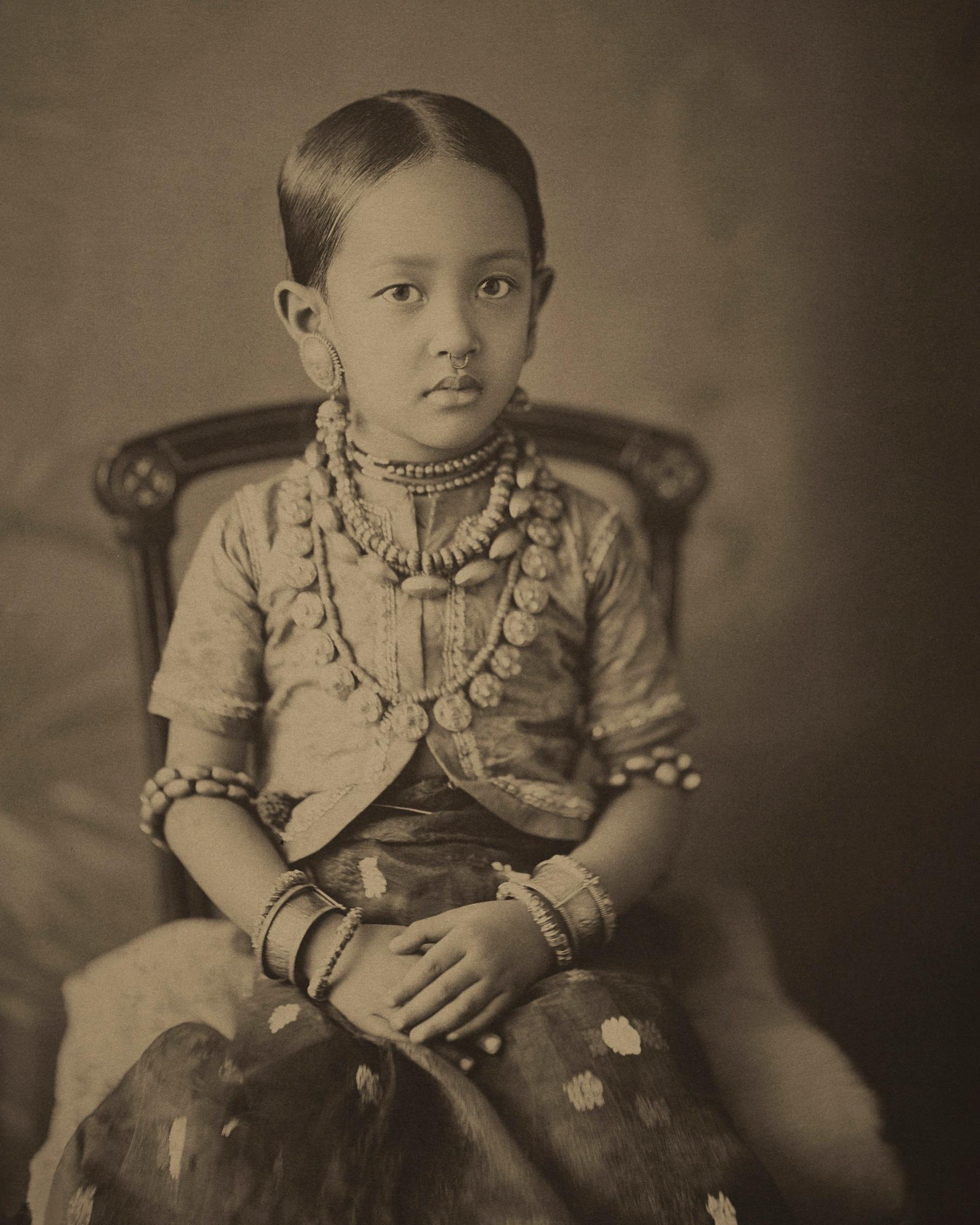 Princess Mrinalini Devi, third daughter of Monmohini Devi.  c. 1888