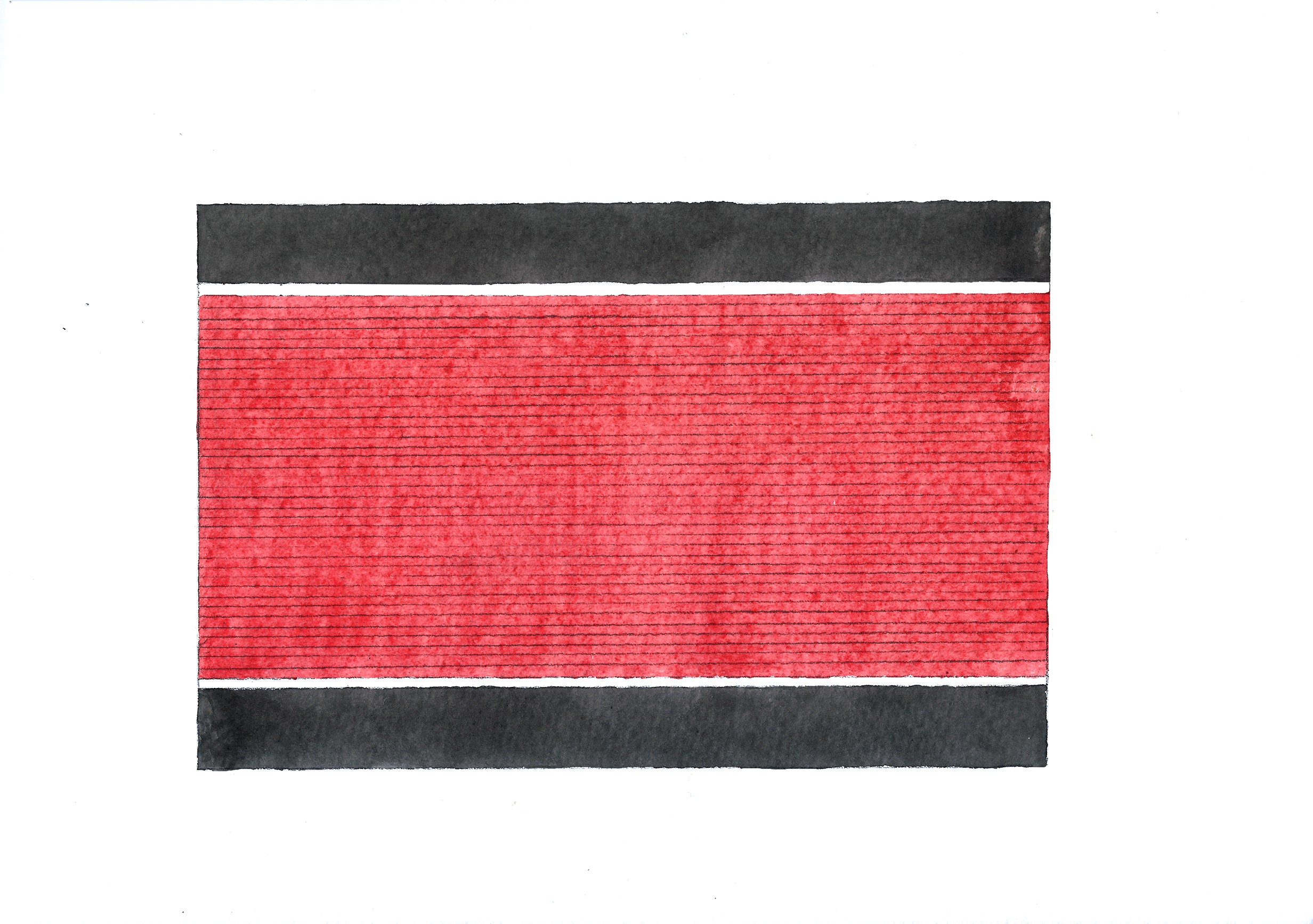 A traditional Rignai from the Reang community is typically a combination of red, black and blue colours and consists of thin stripes along the body of the skirt with thick borders on either sides.