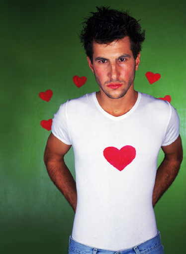 love men in tight shirts, Jerusalem 2000  c-print 156 X 116 cm