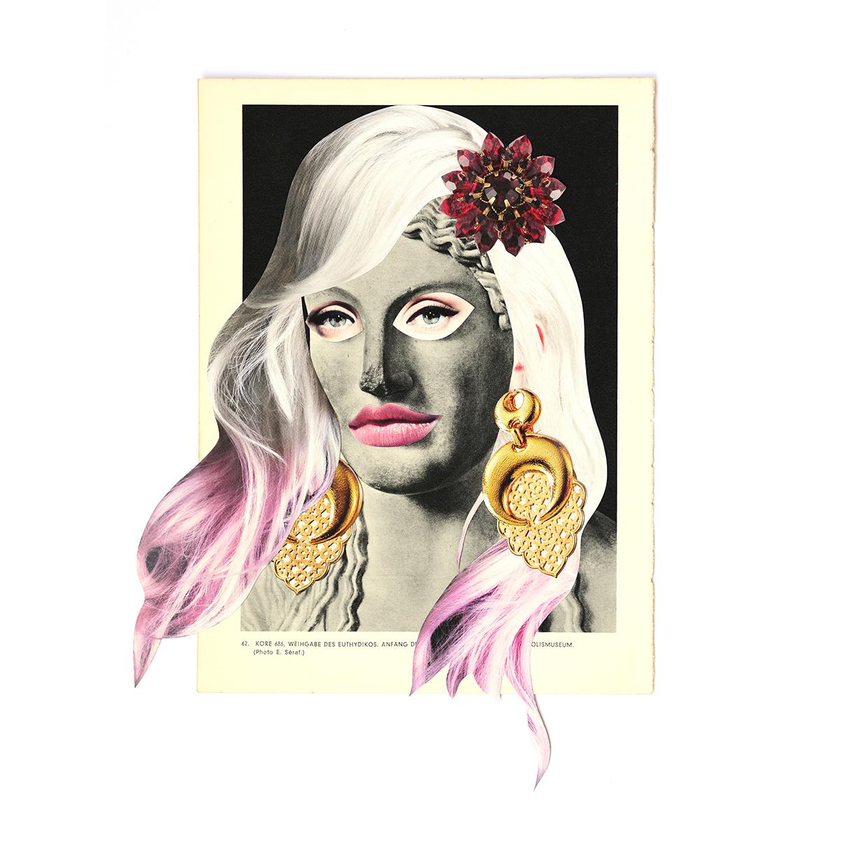 Griechen Plastik #2, 2018, Collage on paper, 18X23 cm.