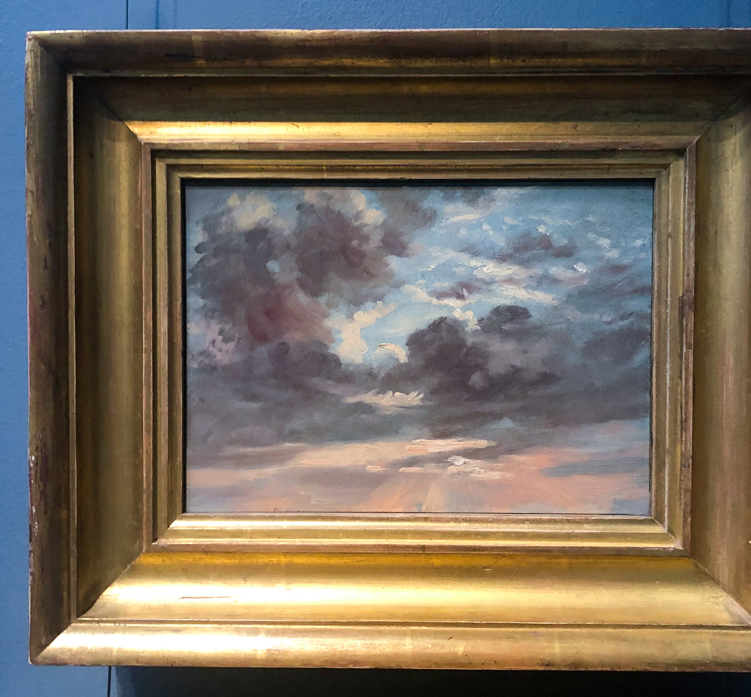 John Constable's Cloud Study: Stormy Sunset