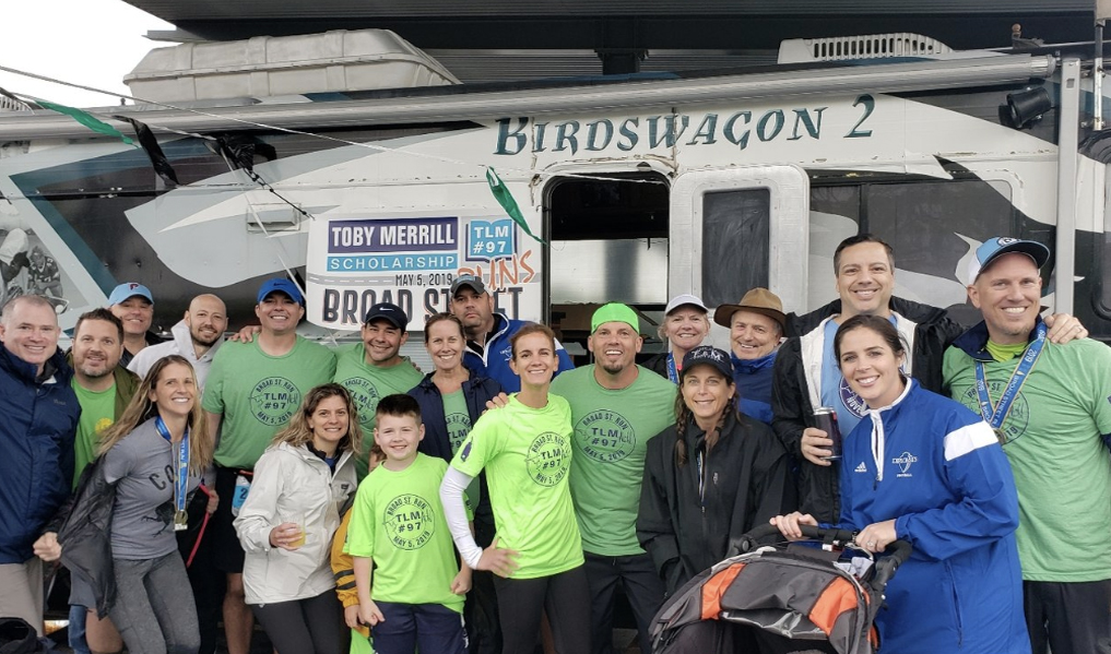 The Broad Street Run for the Toby Merrill Scholarship with Winning Team Spirit -