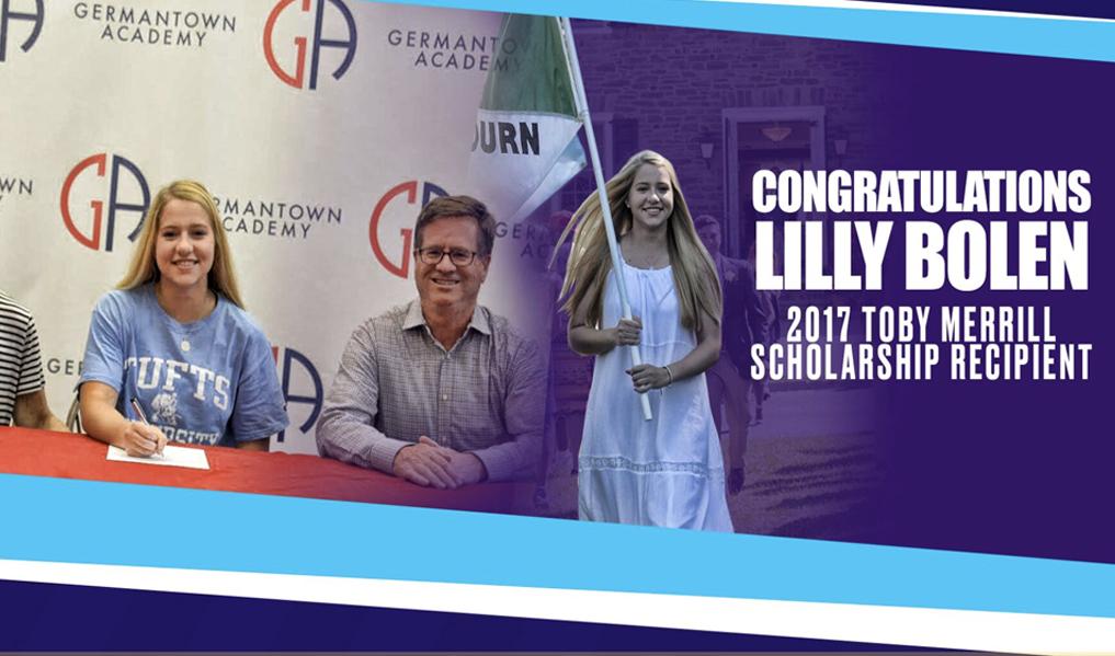 July 2017:Inaugural Toby Merrill Scholarship Winner - Lilly Bolen -