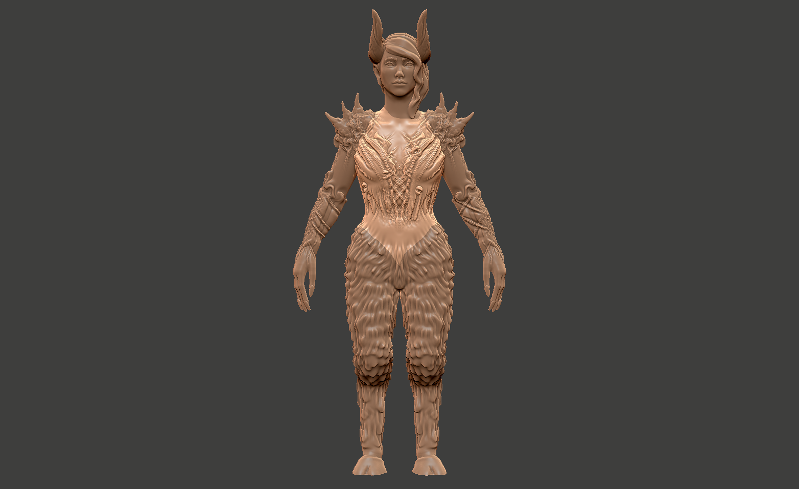 Splitting the model - This model is actually 6 different pieces. I'll show you what I mean, and how I did it. Currently the torso is selected, that's why it is a lighter color.