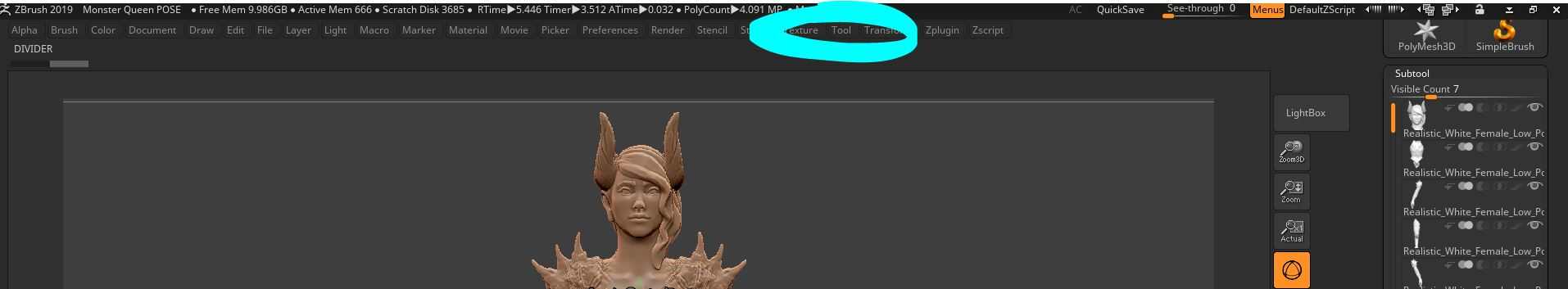 Mia… but where is the subtool palette? - Click tool (circled in blue) at the top of your screen. You'll see that Subtool is the first thing listed.