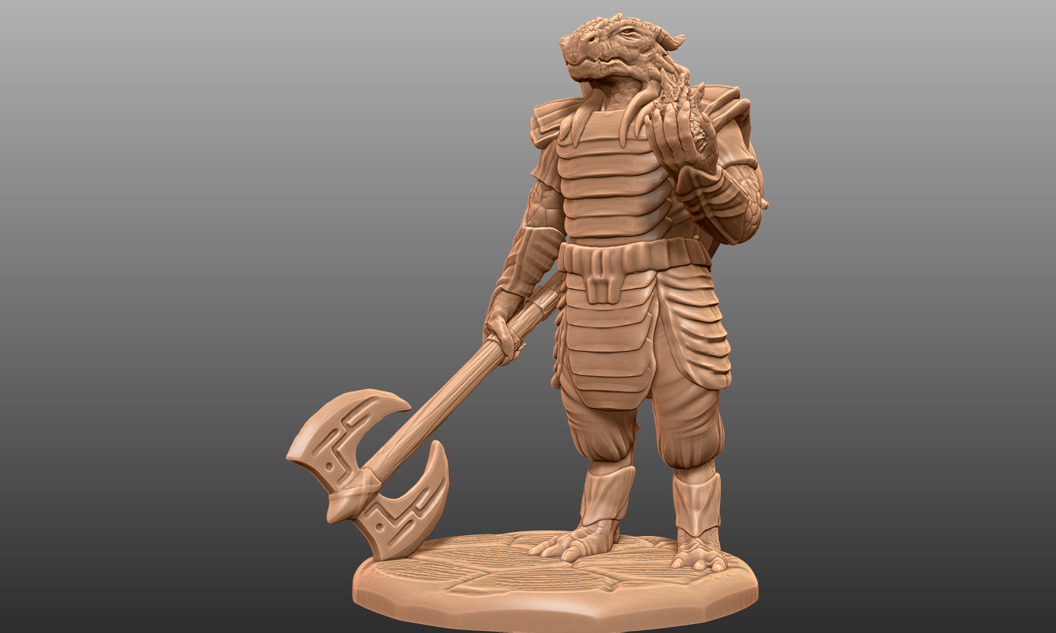 Showcase~ - I'm excited to print this model because the weapon is actually fairly sturdy. Whenever possible I try to have as much of the model in contact with the base. (I drop my minis constantly. They need the extra strength haha)