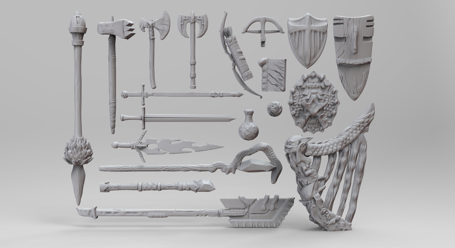 Weapons Bundle Released! - Now available for all $3+ supporters! Can be found under ZBrush Files folder. I'm so excited to see what you all make with these! Don't forget to read the Terms and Conditions too :) It sounds harsh, but that's just how legal stuff is. Please use these assets and have fun!!