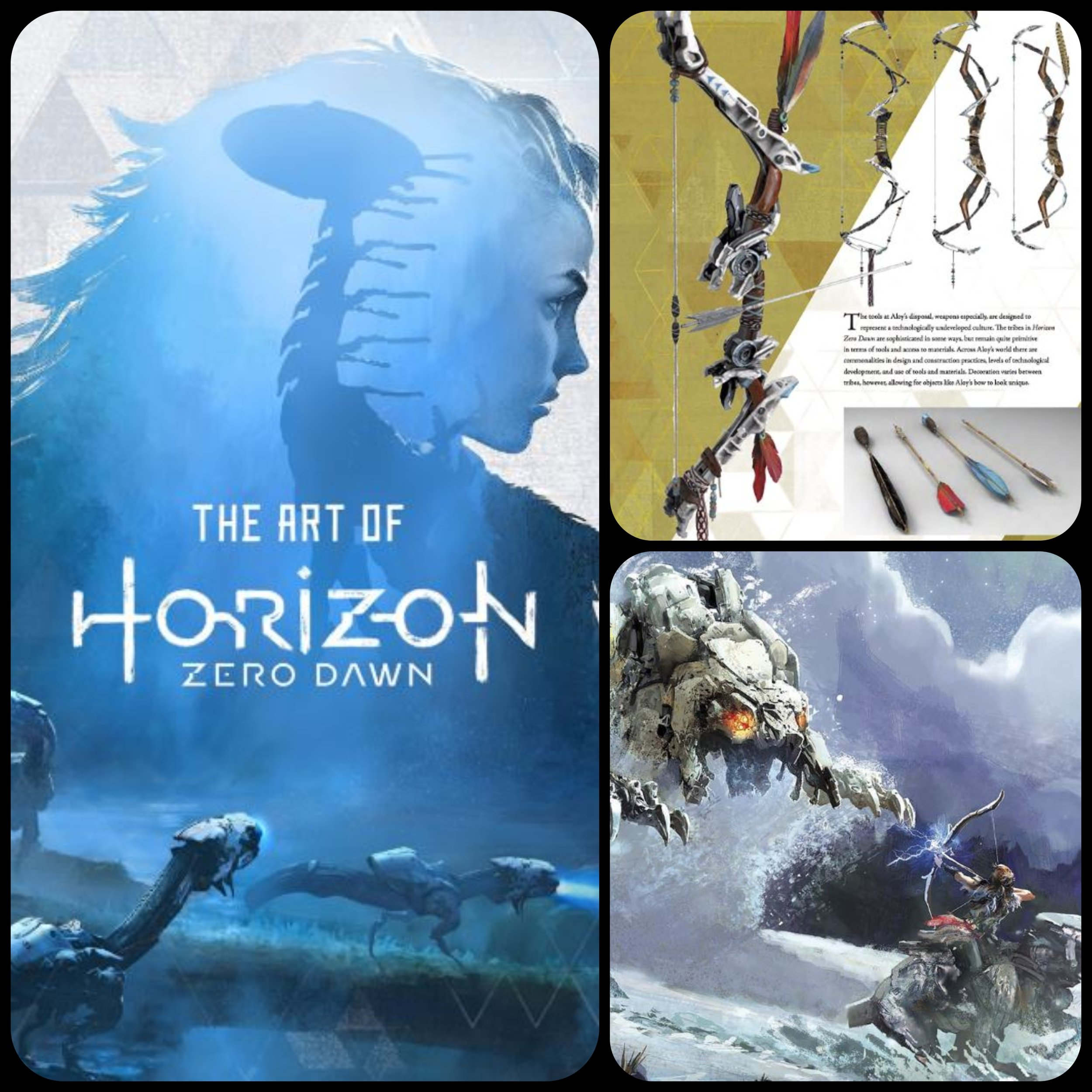 Featured Equipment - So I mentioned earlier how inspired I have been from video games. On that note, I HIGHLY recommend getting some sort of art book of your favorite game or movie. One of my favorites is from Horizon Zero Dawn. Games like this are made of 3D assets, and frequently made in ZBrush. They usually feature high resolution images of their models. This specific book really helped me with weapon design. I like to go through with a small notebook and jot down everything that catches my attention. Way more helpful than you might think~