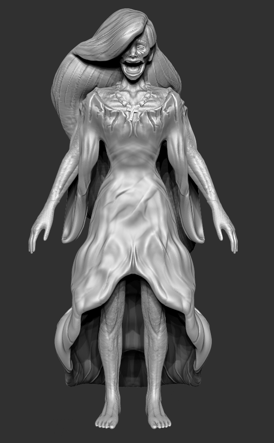 Refining Detail - The next steps are detail work for the hair and posing!