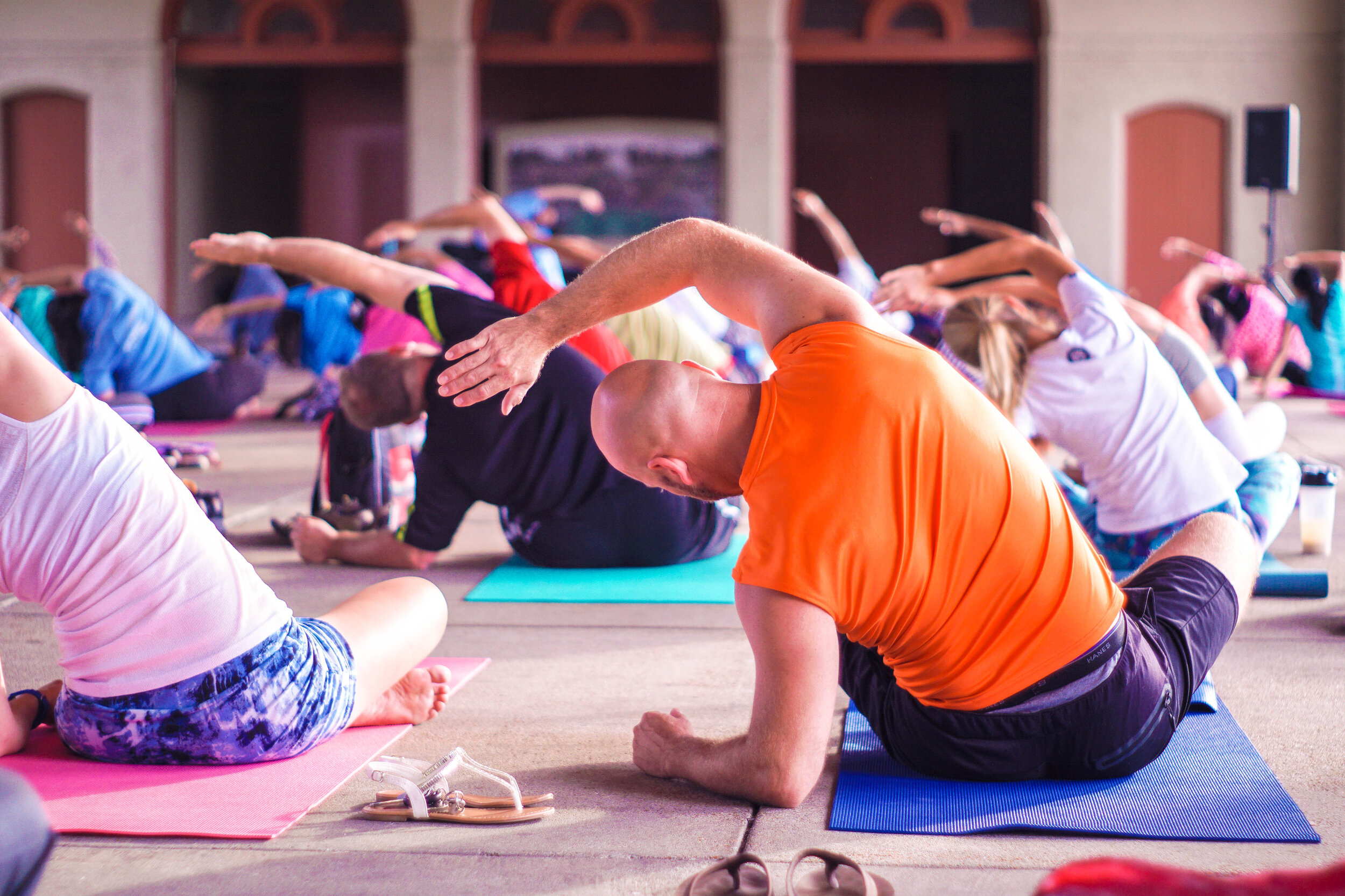 Yoga and breathing exercises can be beneficial to people with asthma symptoms.