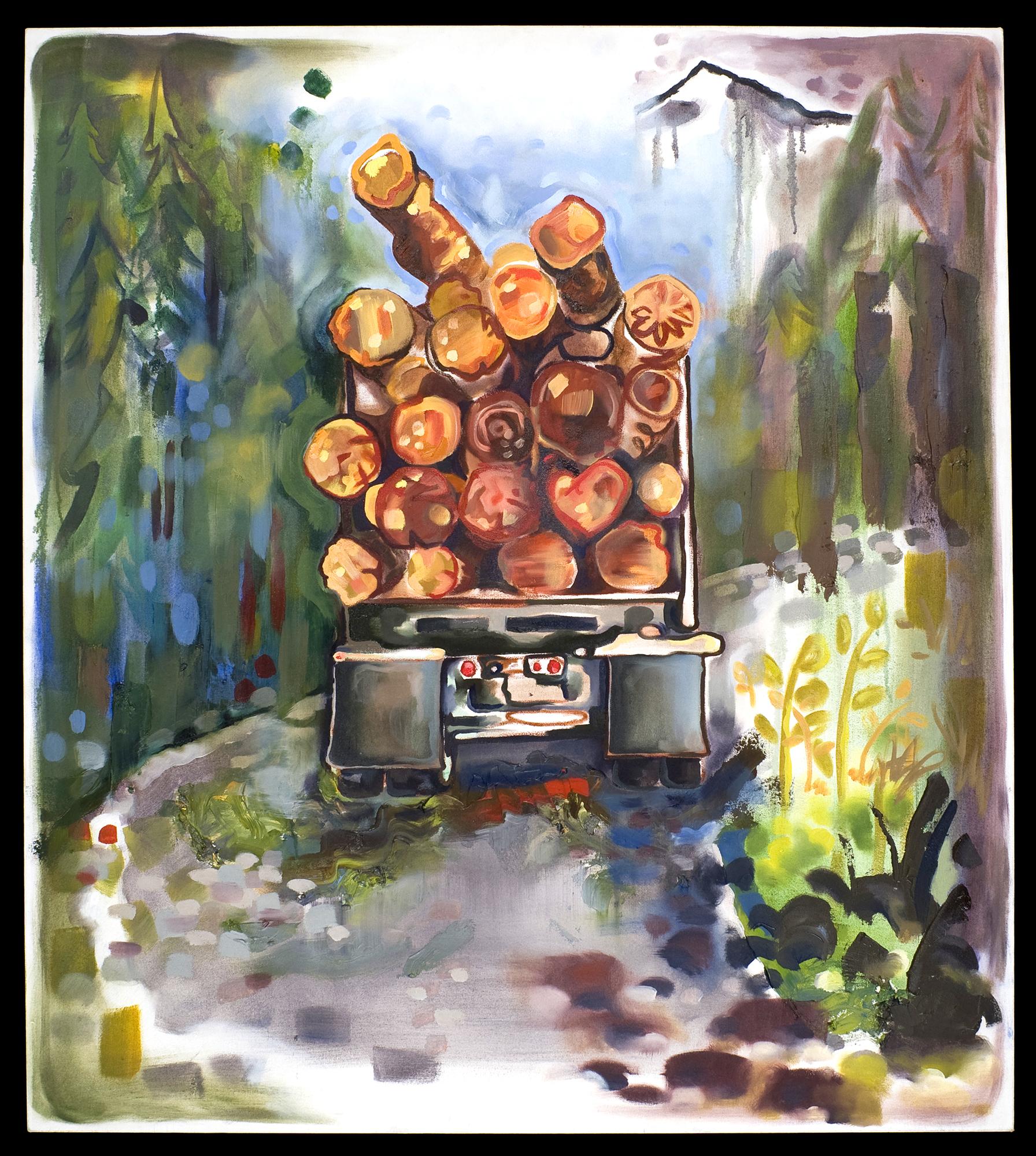 Death Drives a Logging Truck
