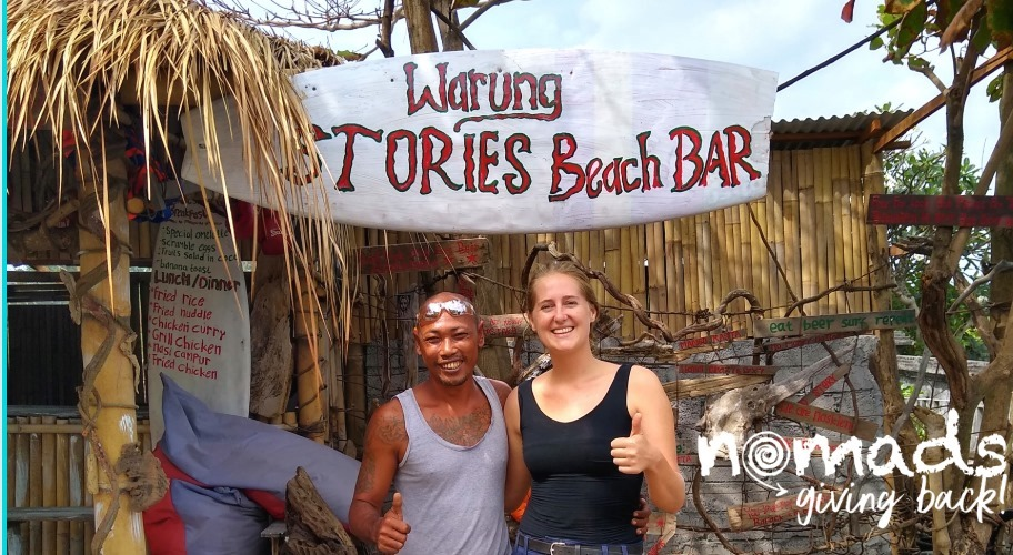 Let's Support A Local Business! Warung Stories Beach Bar! - Wayan's dream is to channel profits from Stories into local communities, to give them a better quality of life. He hopes to run tours to his own community, to introduce travelers to traditional Balinese village life. Simply put, Wayan wants to improve their stories.This event was the first step towards making Wayan's beautiful vision a reality, and putting Stories on the map.100% of profits and voluntary donations went to help Wayan's socially-conscious business get ready for its official opening on July 31st.Event ListingJuly 27th, 2019Attendees: 24