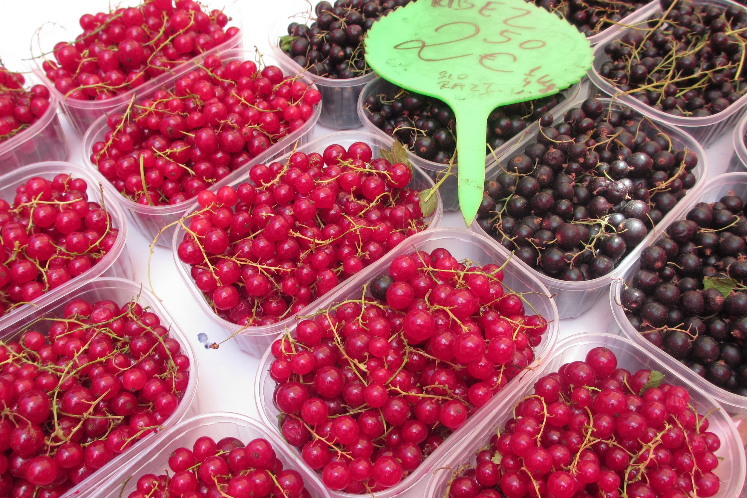 I couldn't resist the fresh berries at the Ljubljana's Central Market. Image by Sarah Reid