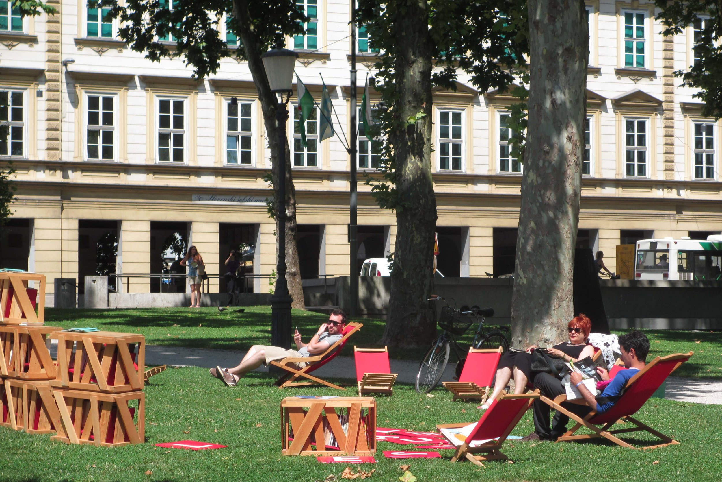 Ljubljana hosts a Library Under The Treetops in city parks from May to August, providing the perfect opportunity to take some time out in a green space with a book © Sarah Reid