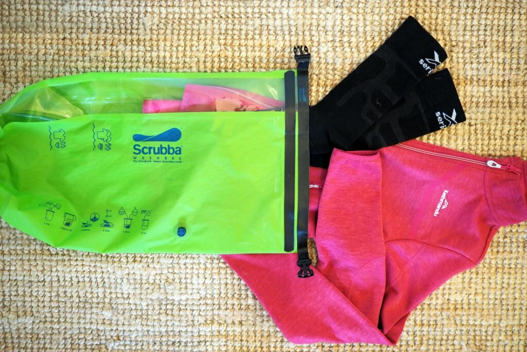 I'm almost looking forward to washing my travel gear in the Scrubba bag on my next trip © Sarah Reid