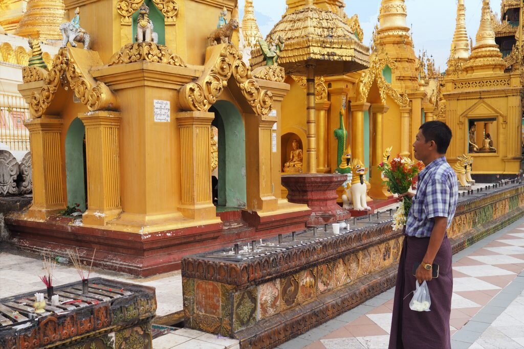 Remember to observe religious and cultural etiquette while travelling in Myanmar © Sarah Reid