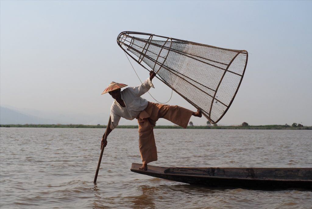 The fisherman of Inle Lake are turning to tourism to supplement their income © Sarah Reid
