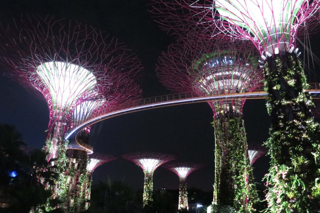 It's free to take in the amazing light show at Gardens by the Bay every evening © Sarah Reid