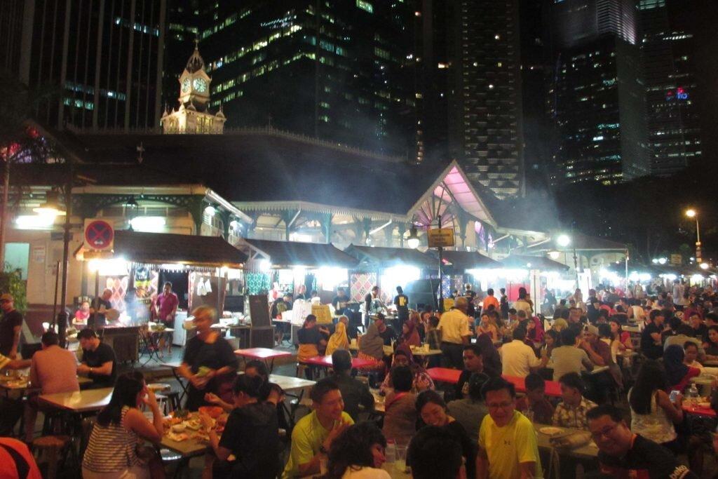 Satay Street is a top spot for a cheap and tasty dinner © Sarah Reid