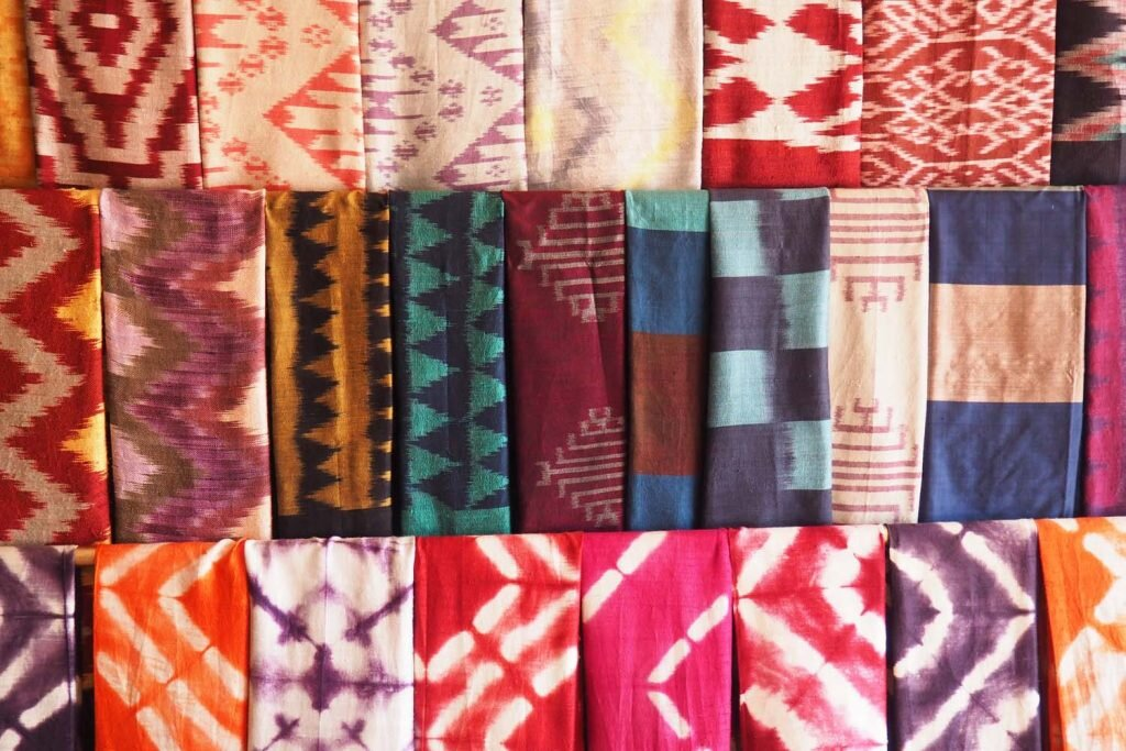 Want, need, wish I could afford: the textiles produced by Ock Pop Tok artisans are simply divine © Sarah Reid