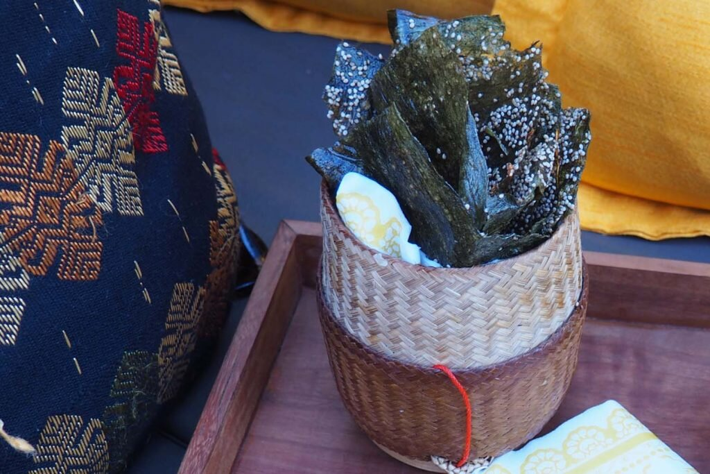 Mmm…khaiphaen…the scrummy river weed snack a new social enterprise in Luang Prabang is named for © Sarah Reid