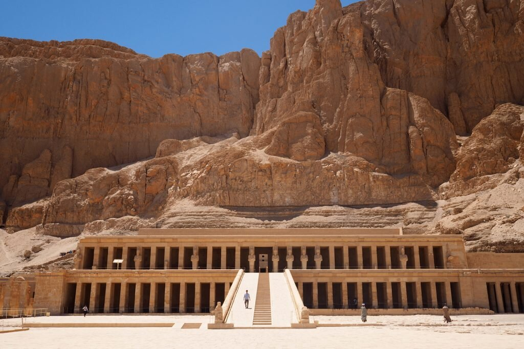I only counted half a dozen other tourists at the magnificent tomb of Hatshepsut in Luxor © Sarah Reid