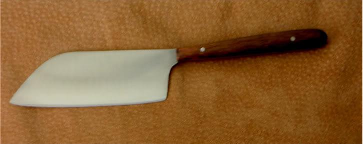 mini santoku kitchen knife with koa handle