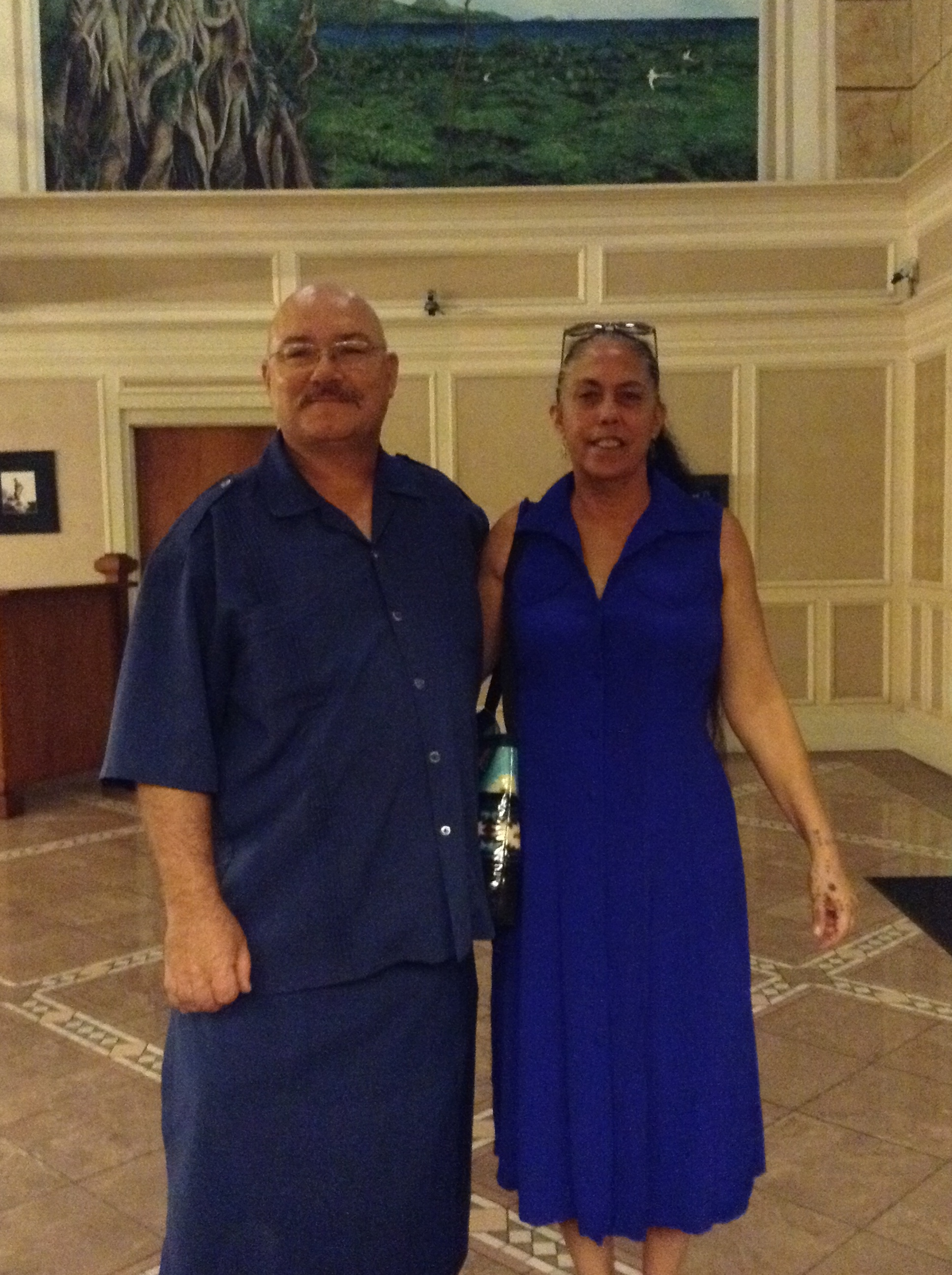 Birthday dinner at the Tradewinds Hotel for Aleta