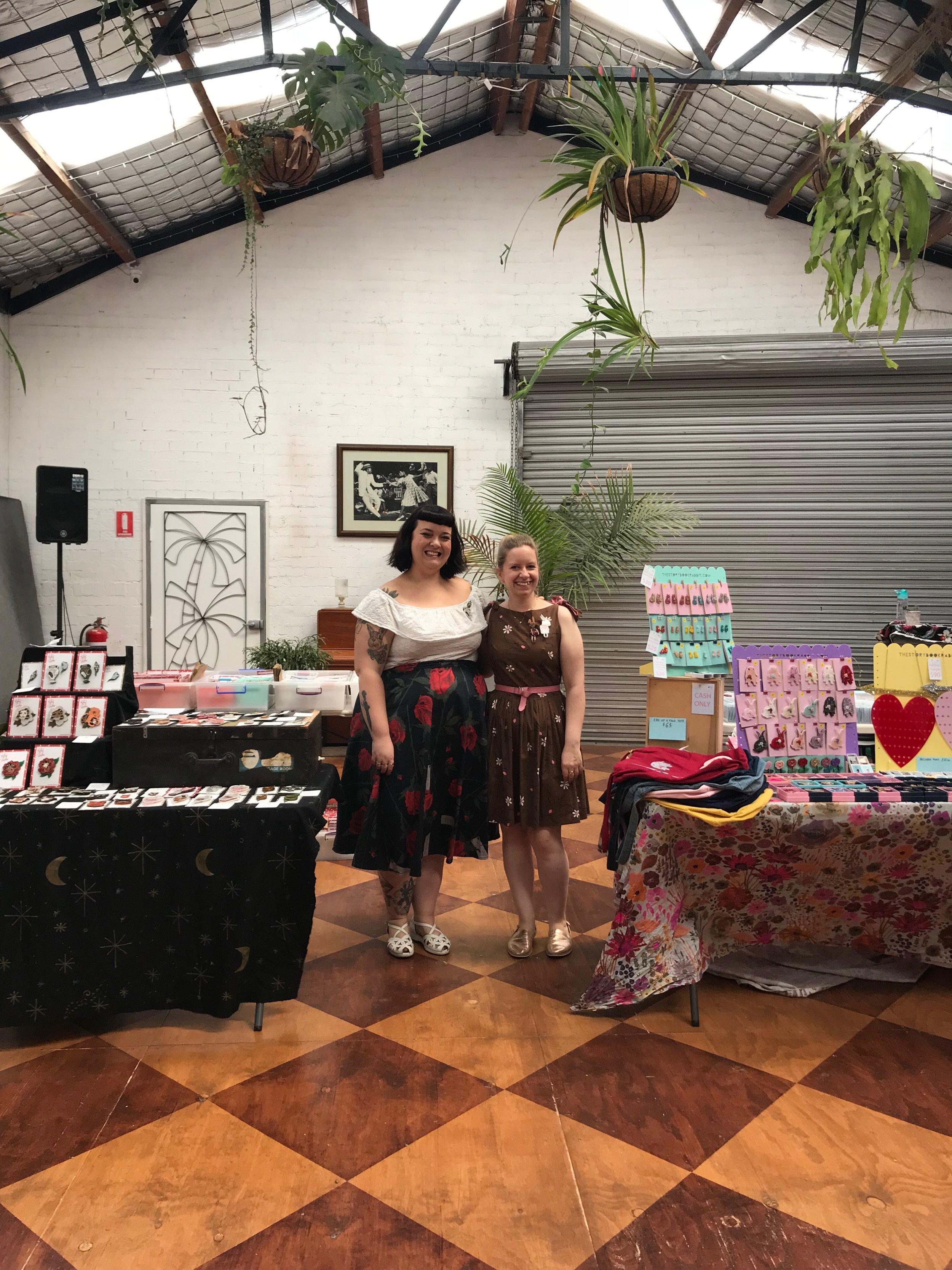 2018 Besties Brooch market, Kirbee Lawler and Kelly White AKA The Storybook Rabbit